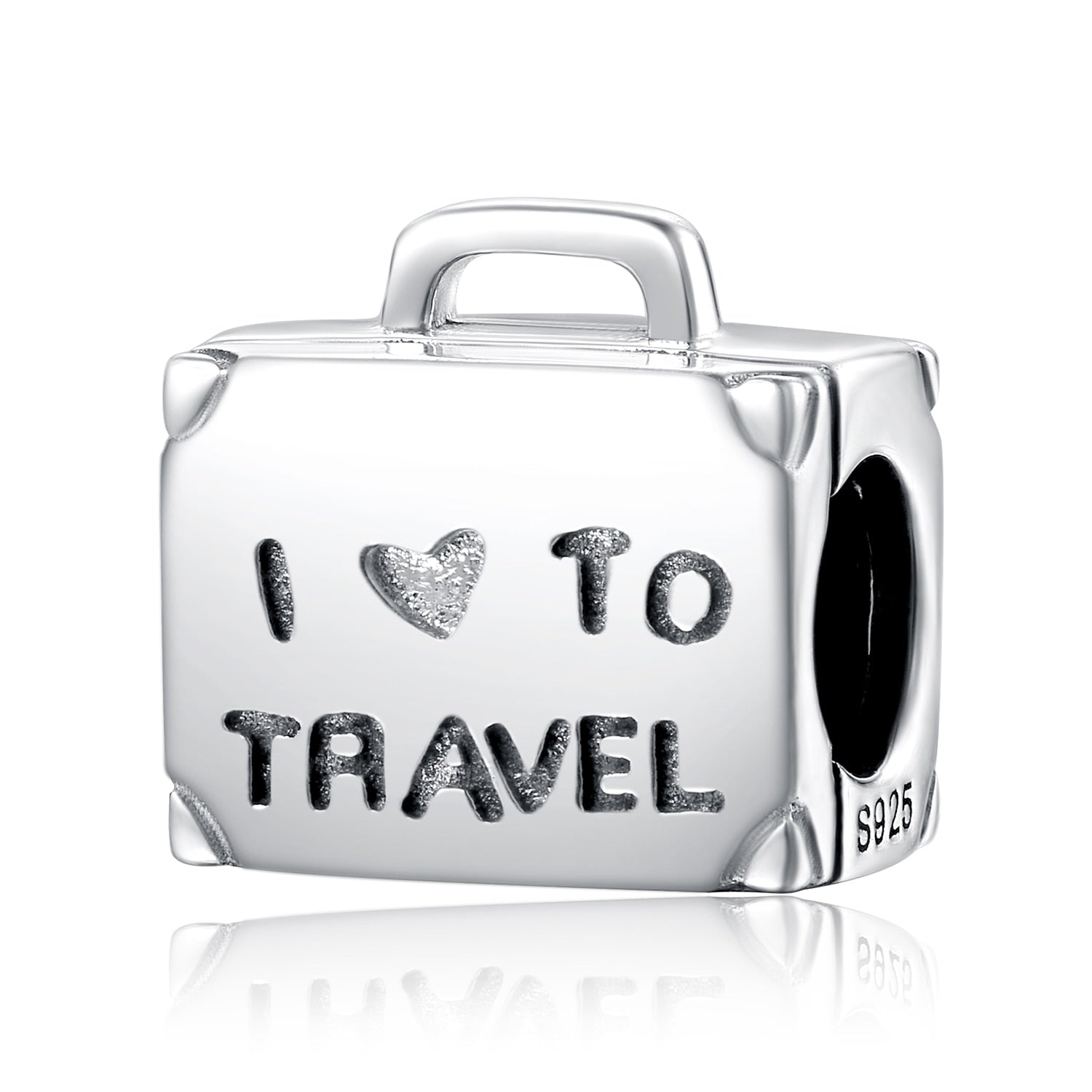 Travel Luggage 925 Sterling Charm