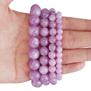 Purple Angelite Stone Round Beads 4 6 8 10 12mm