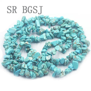 5-8mm Assorted  Gems Chipped Beads Long Strand 34""