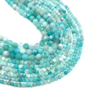 Amazonite Small Size Beads Gemstone Faceted Beads  2 3 4 MM