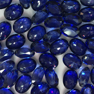 Sapphire 7X9mm Faceted Beads