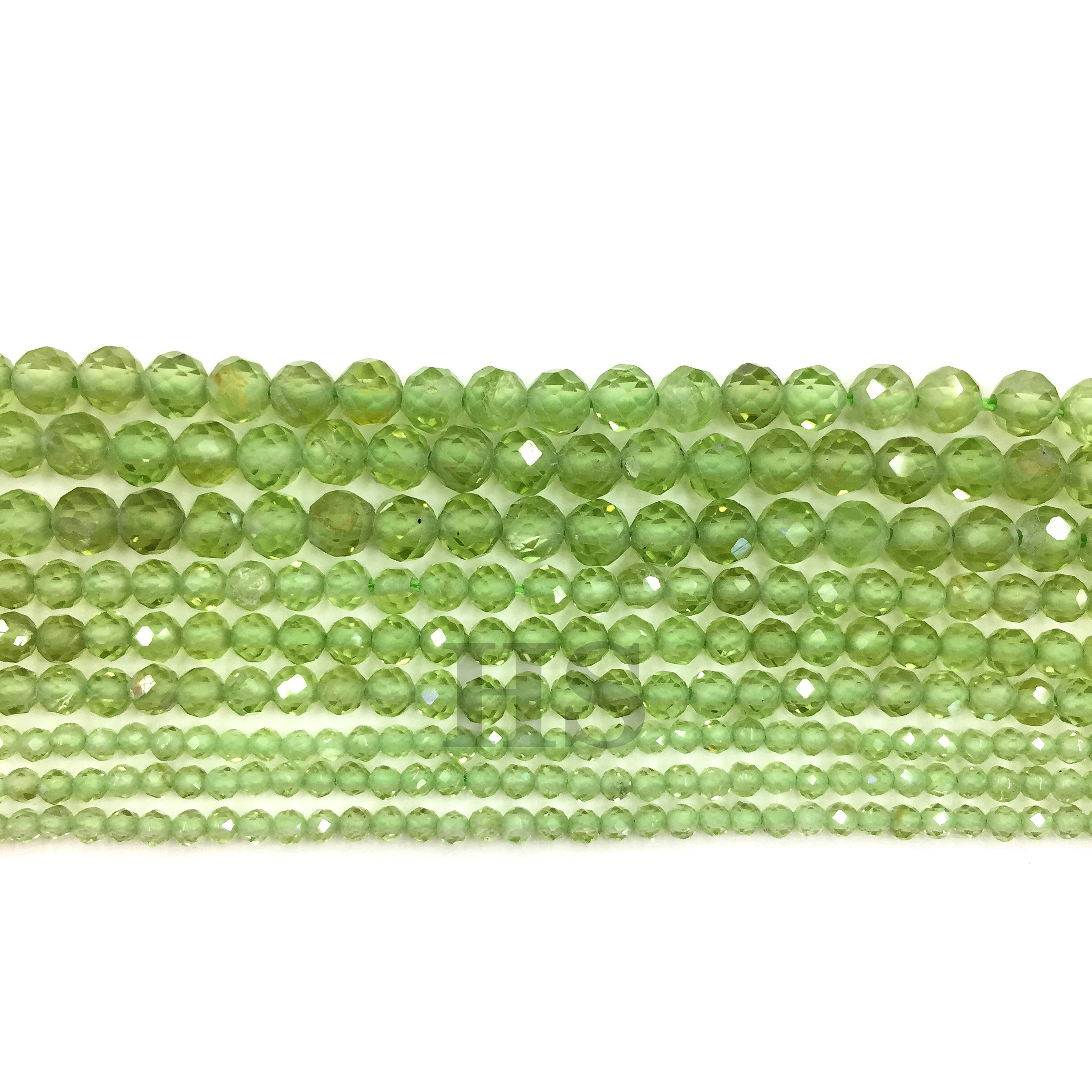 Peridot Faceted Beads 2mm 3mm 4mm