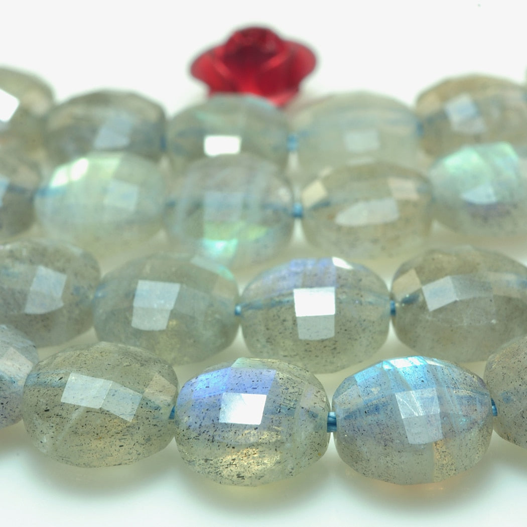 Faceted Labradorite 4MM 5MM 6MM 7MM  Natural Gemstone Beads 15inch