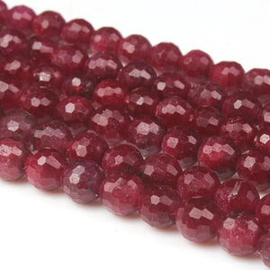 Ruby 128cut Gemstone Loose Beads 6 8 10 mm