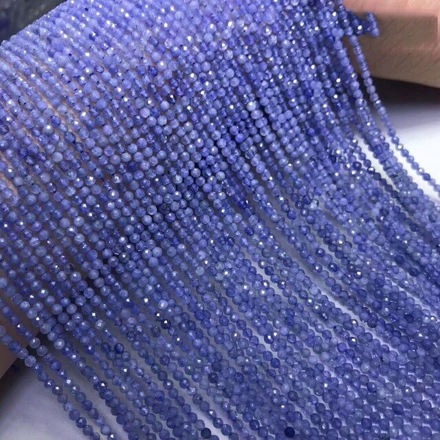 Tanzanite 3mm Roundel Faceted Bead 15inch