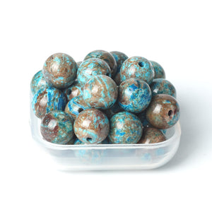 Blue Ocean Pattern Agate Round Beads 6/8/10mm