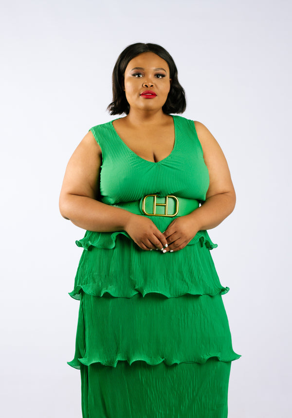 Emerald Elegance Dress - Native Nylon
