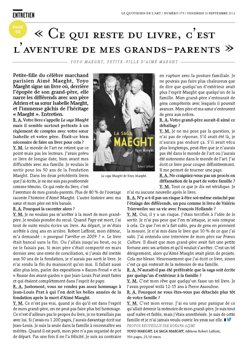La Saga Maeght par Yoyo Maeght