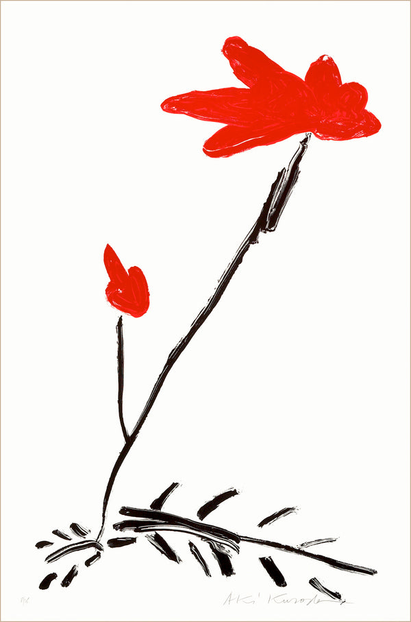 "Aki Kuroda, ""Red Flower III"", estampe"
