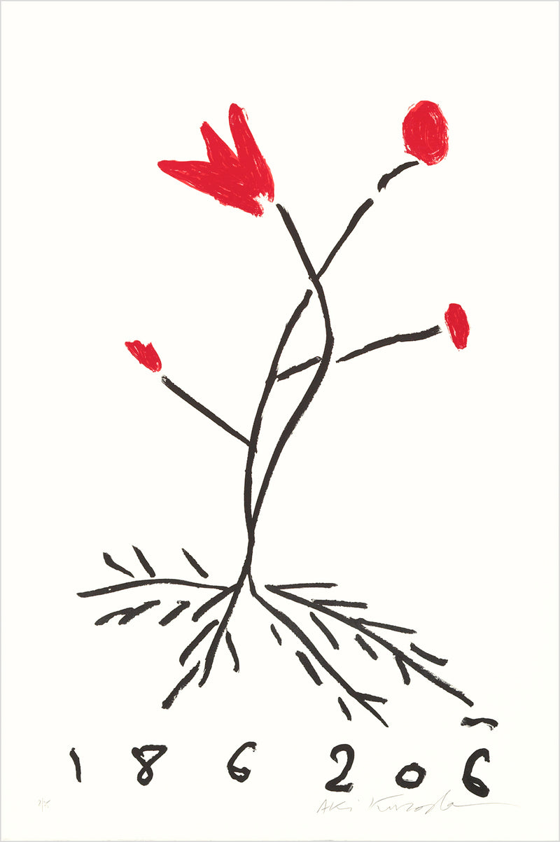 "Aki Kuroda, ""Red Flower I"", estampe"