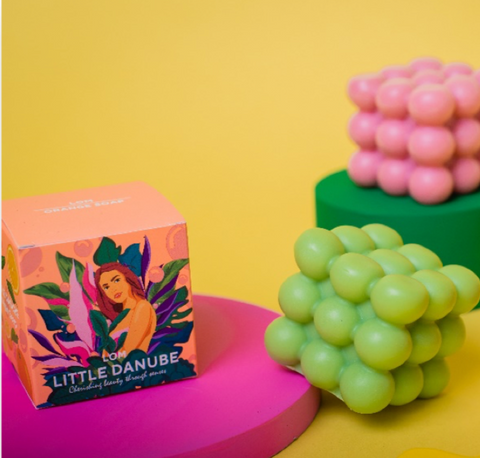 bubble soap with box packaging