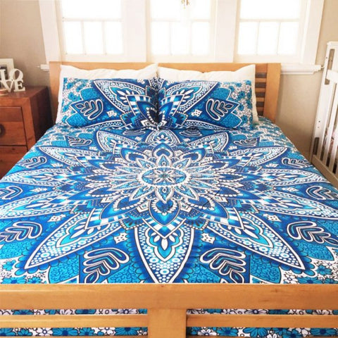 Hand Block Print Bed Sheet Set Pour Cotton Bed Cover