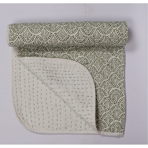 Green Wife Quilted Bed Cover