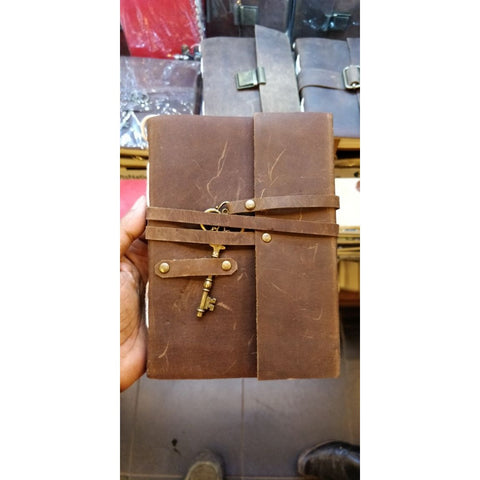 Hand Made Leather Note Book With Key