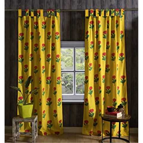 Hand Block Print Curtains Door And Window Curtains