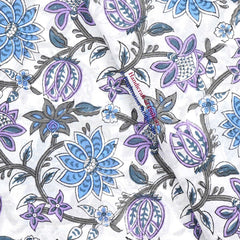 Cotton Hand Block Print Garments Fabric Soft Fabric