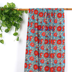 Hand Block Print Window Curtains