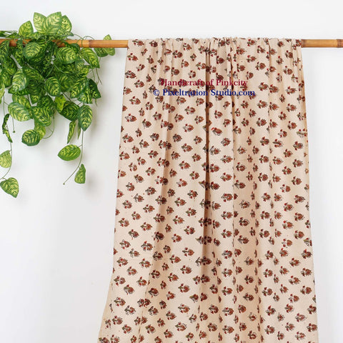 Hand Block Print Curtains Door And Window Only