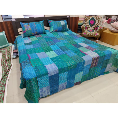 Kantha Bed Covercotton Kantha Bedcover
