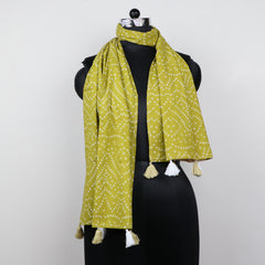 Indian block printed scarf BG01