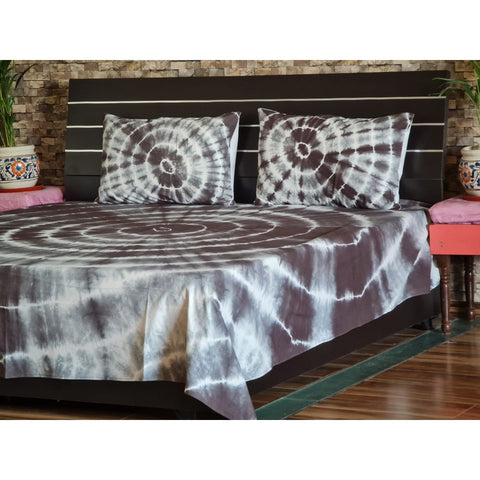 Doubl Shibori Bed Cover Throw Bohemian Bedspread Handmade Bed Sheet With Pillows SSTHSB017