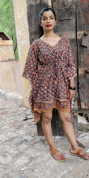 cotton block printed sexy caftan By BG2