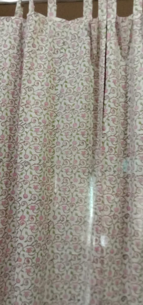 Stylish Flannel Home Curtains in Hand Block Print002BG