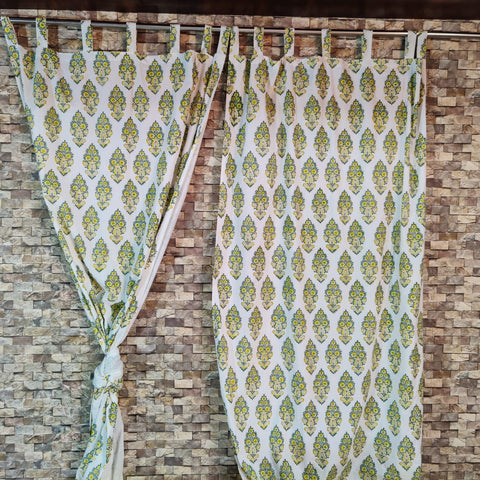Indian Cloth Curtains in Hand Block Print002BG