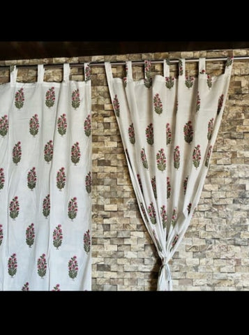 Home Decor Curtains in Hand Block Print002BG