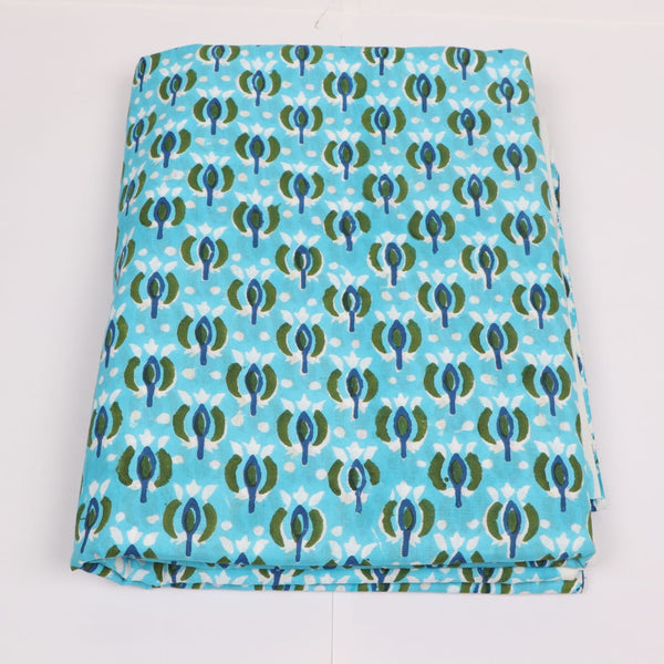 Cotton Voille Fabric in Hand Block Print Garments Fabric002BG