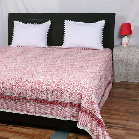 Ozee Foam Kantha Bed Cover in Kantha Quilt
