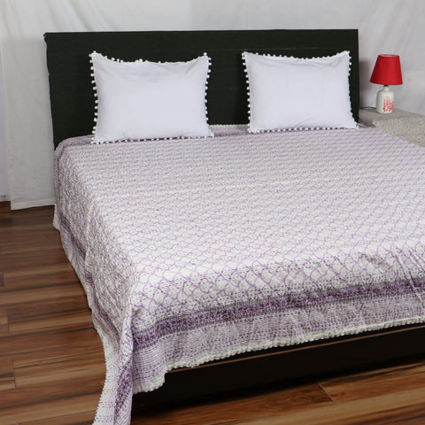 Royal Kantha Bed Cover in Kantha Quilt