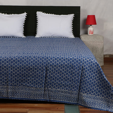 Vintage Kantha Bed Cover in Kantha Quilt