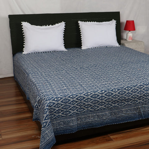 Ekkat Design Kantha Bed Cover in Kantha Quilt