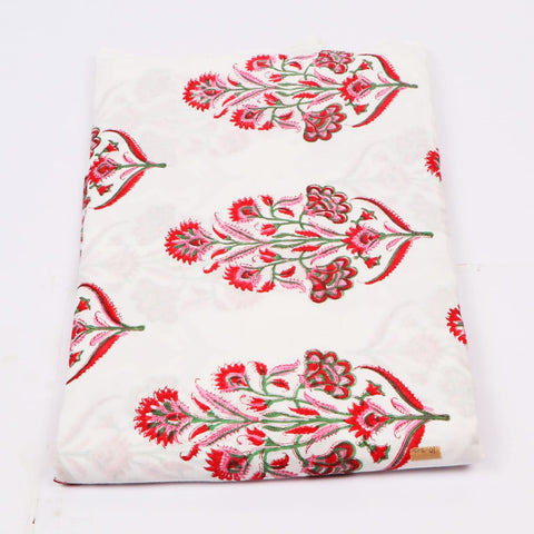 Block Motif in Pure Cotton Hand Block Print Garments Fabric002BG
