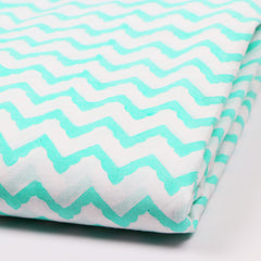 Wave Foam Print in Pure Cotton Hand Block Print Garments Fabric002BG