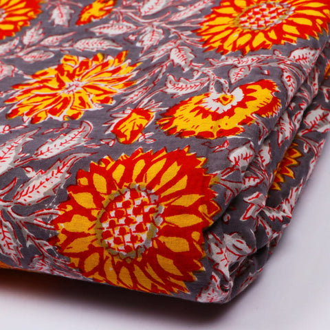 Printing Pattern Cotton Hand Block Print Garments Fabric002BG