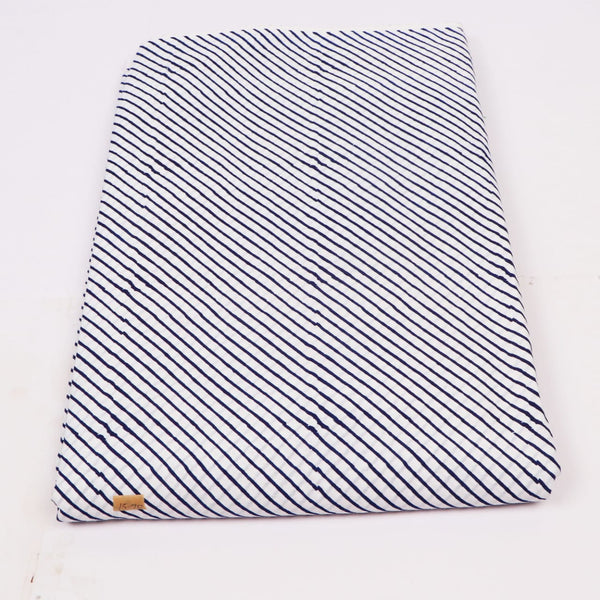 Cross Line Pattern Cotton Hand Block Print Garments Fabric002BG