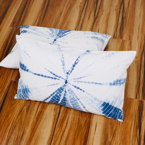 Turkey Bedsheet Pattern Tie Dye Pillow Cover in Pure Cotton Fabric