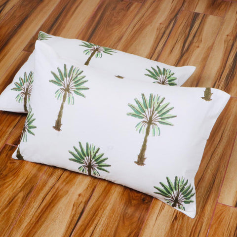Tree Stylish Pattern Tie Dye Pillow Cover in Pure Cotton Fabric