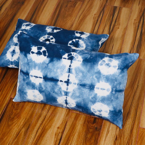 Anime Pattern Tie Dye Pillow Cover in Pure Cotton Fabric