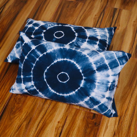 Indian Pattern Tie Dye Pillow Cover in Pure Cotton Fabric