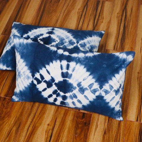 Eye Pattern Tie Dye Pillow Cover in Pure Cotton Fabric