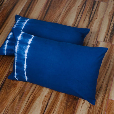 Side Pattern Tie Dye Pillow Cover in Pure Cotton Fabric
