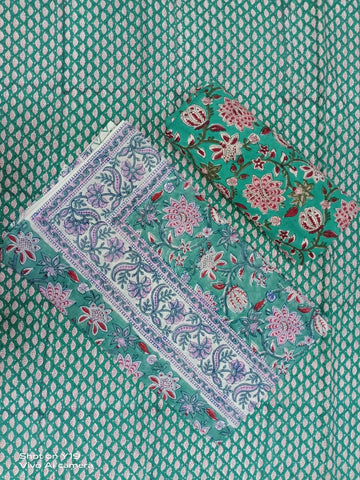 Polkar Dot Pattern Flower Print Motifs in Salwar with Dupatta 00BG02