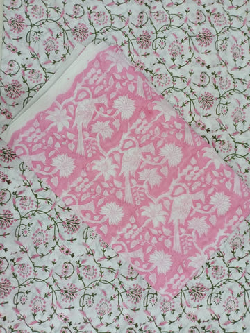 Pinkish Ghad Pattern Flower Print Motifs in Salwar with Dupatta 00BG02