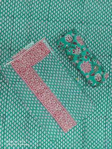 Polkar Dots With Flower Pattern Print Motifs in Salwar with Dupatta 00BG02