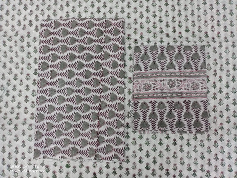 Mughal Pattern Print Motifs in Salwar with Dupatta 00BG02