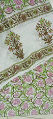 Indian Flower in Ghad Pattern in Cotton Hand Block Print Salwar with Dupatta 00BG02
