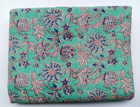 indian Cotton in Hand Block Print Garments Fabric002BG